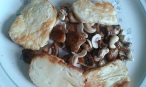 halloumi mushrooms cashews